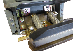 Current Collector Device (CCD) showing the adjusting rack